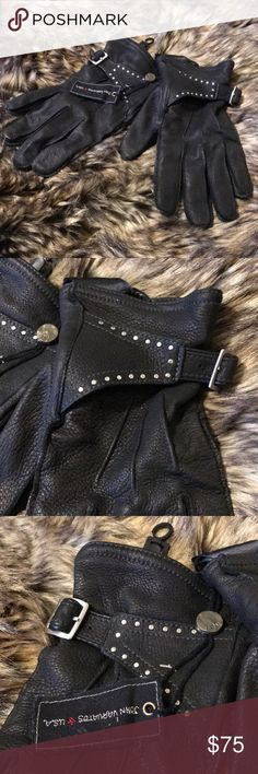John Varvatos star USA Men's gloves Never worn  Men's size M Can be worn by women size M/L Retails for $150  Open to reasonable offers John Varvatos Accessories Gloves & Mittens