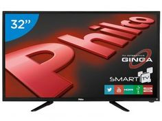 "Compre no @magazinebrasilcompleto  Smart TV LED 32"" Philco PH32B51DSGW - Wi-Fi 2 HDMI 1 USB"