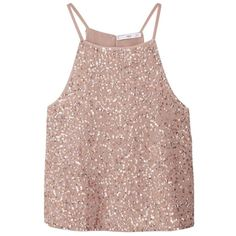 Designer Clothes, Shoes & Bags for Women Sparkly Crop Tops, Sequin Crop Top, Sequin Shirt, Sleeveless Crop Top, Pink Sequin, Pink Sparkly, Pastel Tops, Pink Tops, Pastel Pink