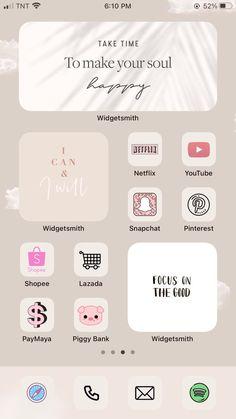 Pink Wallpaper Iphone, Iphone Background Wallpaper, Aesthetic Iphone Wallpaper, Organize Phone Apps, App Icon Design, Ios Design, Iphone Life Hacks, App Background, Iphone App Layout