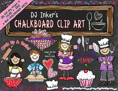We've whipped-up a little Valentine discount for you! Download yours today and SAVE 20%!!!  Sale ends February 11, 2015.  (OR buy the complete 'Chalkboard Kids' collection to save 30% and get FREE Chalkboard backgrounds too!)