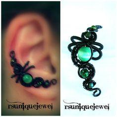 No Piercing Earring Cartilage Ear Cuff Goth by rsuniquejewel