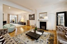 Luxury living in Chelsea home. Eclectic yet fun