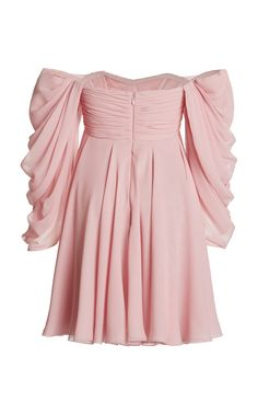 Giambattista Valli Georgette Off-The-Shoulder Dress Neon Outfits, Stage Outfits, Fashion Outfits, Casual Dresses, Short Dresses, Fashion Bella, What Is Fashion, Frocks For Girls, Giambattista Valli