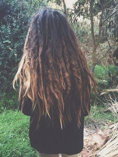 looks a lot like my hair, but with dreads Half Dreads, Partial Dreads, Short Dreads, Thick Dreads, Ombré Hair, Hair Dos, Her Hair, Messy Hair, Dread Braids