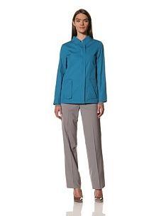 JIL SANDER Women's Poplin Coat (Turquoise)