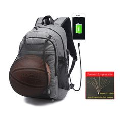 044fcc543ec2 New Multifunction Basketball Backpack SportS Bag Gym Outdoor Bag 15.6 Inch  Laptop with Basketball Net USB