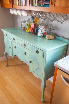 Painted Sideboard Kitchen Storage Submitted by  Cheryl at It's Two AM