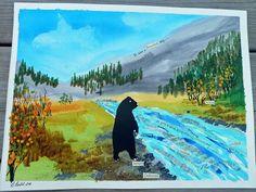 Black Bear Painting