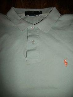Polo by Ralph Lauren Size Men's Pony Logo XL Short Sleeve Polo Shirt Blue Cotton