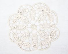 Vintage French Handcrocheted Doily by frenchdip on Etsy, $12.50