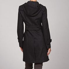 @Overstock.com - Miss Sixty Women's Hooded Long Peacoat - Tab and button details at the cuffs and classic double-breasted entry highlight this Miss Sixty hooded peacoat. This coat is crafted from a unique wool blend and fully lined for comfort.  http://www.overstock.com/Clothing-Shoes/Miss-Sixty-Womens-Hooded-Long-Peacoat/4862971/product.html?CID=214117 $47.99