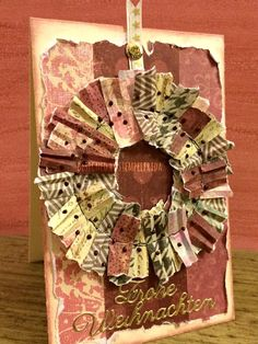 Stempelfrida: Wreath from scraps