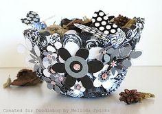 A paper bowl! Cuteness!!