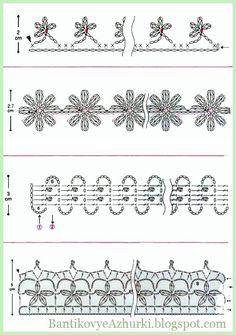 Uç Dantel Şemaları ,  #güllüdantelşemaları #şemalıdantelörnekleriresimli #şemalıdanteller #ücretsizdantelşemaları , Dantel şema örnekleri hazırladık sizler için. Kenar oyası modeli olarak kullanabilirsiniz. Dantel havlu kenarı modeli olarak kullanabilirsiniz....