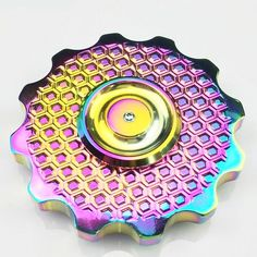 Anodized metal wheel fidget spinner. Amazing finish.