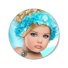 Eden Wood Fan Club Round Stickers from http://www.zazzle.com/toddlers+and+tiaras+gifts