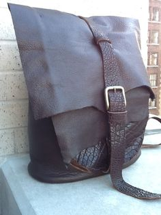 Handmade leather back pack rucksack in an by LUSCIOUSLEATHERNYC, $349.00  GORG!