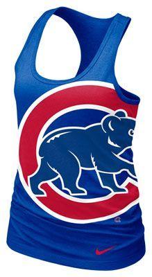 Chicago Cubs MLB Nike Women's Royal Cotton Racerback Tank