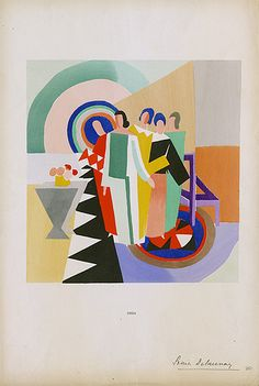 Sonia Delaunay Fashion Illustration (1924) http://www.flickr.com/photos/fitspecialcollections/3795936612/