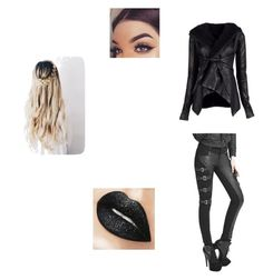 A fashion look from November 2016 featuring leather jackets and cotton pants. Browse and shop related looks. Alternative Outfits, Rick Owens, Shoe Bag, Polyvore, Stuff To Buy, Shopping, Collection, Design, Women