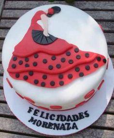 tarta de flamenca en http://www.dulcesdediseno.com/tarta-de-flamenca/