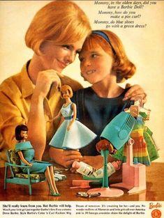 "1965 ""Style Barbie's Color 'n Curl Fashion Wig"" Mattel Inc."