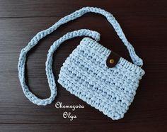"""Купить Мини-сумочка """"Мила"""" - голубой, сумочка, сумка, сумочка вязаная, трикотажная пряжа"""