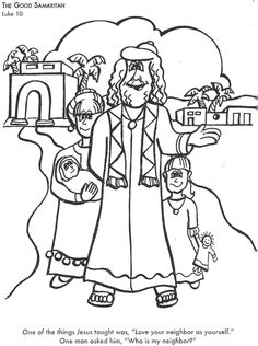 another good samaritan coloring page - Good Samaritan Coloring Pages