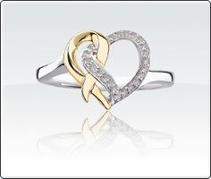 Rogers and Hollands  Promise of Hope 1/8ct. T.W. Diamond Heart Deployment Ring <3