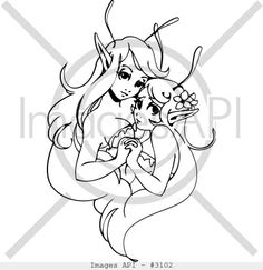 27819-girl_elf_fairy_clip_art_illustrations_024.jpg (400×412)