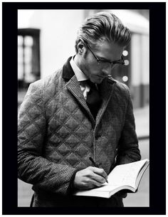 Quilted Jacket by Åhlens City for a Fashionation magazine (Stockholm, Sweden) | Model: Benoit Marechal Photo: Henry Moshizi
