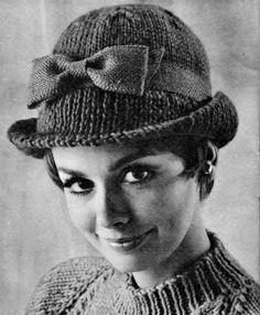 Vintage Tailored Hat - 1960s Hat Pattern - Vintage Knitting - PDF eBook. $1.99, via Etsy.