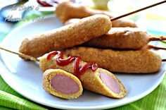 Corn dogs, finger food