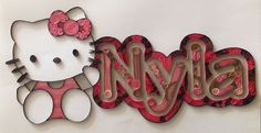 Quilling Hello Kitty Custom Nameplate by HalcyonCreativeGifts Quilling Letters, Quilling Paper Craft, Paper Crafts, Quilling Ideas, Name Art, Niece And Nephew, Custom Wall, Paper Decorations, Paper Goods