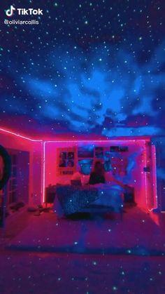 Neon Bedroom, Room Design Bedroom, Room Ideas Bedroom, Bedroom Decor, Bedroom Designs, Bedroom Inspo, Chill Room, Cute Room Ideas, Grunge Room