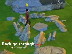 Mod The Sims - Rocks go through - Maxis mesh edit