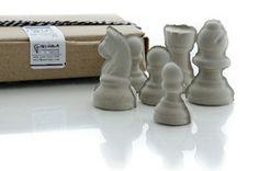Set of six Concrete Chess Sculptures