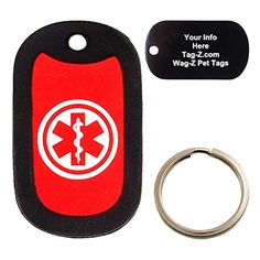 Custom Engraved Pet Tag  Medical Alert  Dog Tag  TagZ WagZ * Want to know more, click on the image.(This is an Amazon affiliate link and I receive a commission for the sales)