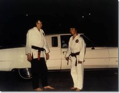 Met this wonderful man - Elvis's karate instructor so sweet