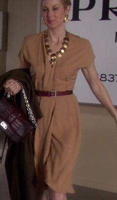 Lily+van+der+Woodsen's+Tan+Shirt+Dress+from+Gossip+Girl:+Salon+of+the+Dead+#ShopTheShows+#curvio