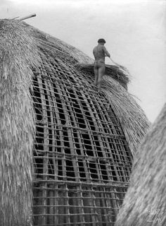 Bamboo Architecture, Vernacular Architecture, Architecture Details, Dome Structure, Bamboo Structure, African House, Xingu, Natural Structures, Great Photographers