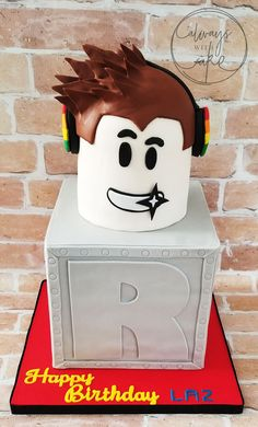 Roblox Cake 9th Birthday Parties, 12th Birthday, Birthday Bash, Birthday Ideas, Roblox Birthday Cake, Roblox Cake, Cakes For Boys, Party Time, Decoration