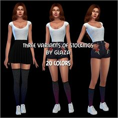 All by Glaza: Three variants of stockings • Sims 4 Downloads