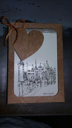Caderneta de ideias Amsterdam com gravação a laser e caixa de kraft