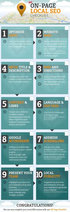 On-Page Local SEO: 10 Tips To Improve Your Local ‪#‎SEO‬ [‪#‎Infographic‬] ‪#‎InternetMarketing‬ ‪#‎Business‬ ‪#‎Webmaster‬ ‪#‎WebManagement‬