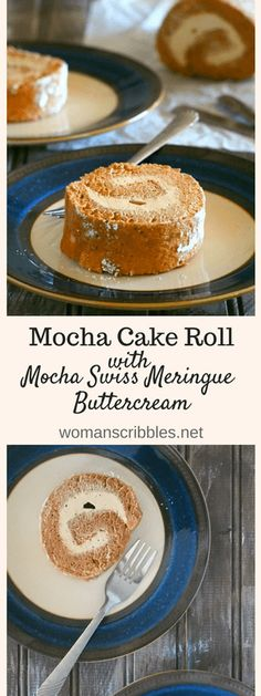 This mocha cake roll is filled with creamy swiss meringue buttercream . It is a lightly indulgent dessert made with simple ingredients you probably have on hand.