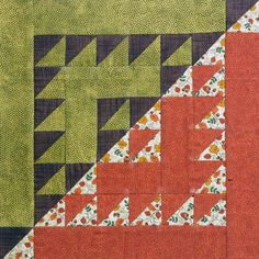 Blocks: We're Giving Them Away | Quilty Pleasures Blog. Sawtooth logcabin