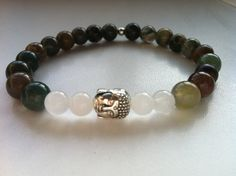 Beautifull color men budhha gemstone bracelet  door KennlyDesign