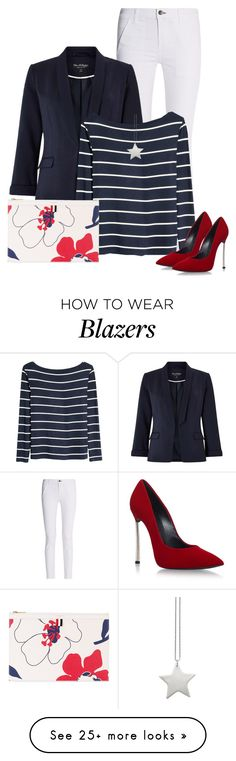 """""""Red, White, & Blue!"""" by oxigenio on Polyvore featuring rag & bone, Miss Selfridge, H&M, design *by Imre Bergmann, Casadei and Thom Browne"""
